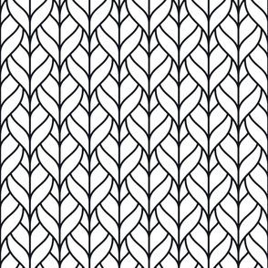 Black and White Doodles - Jumbo Leaves