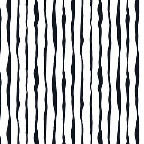Black and White Doodles - Rough Stripes