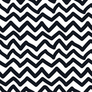 Black and White Doodles - Quirky Chevron
