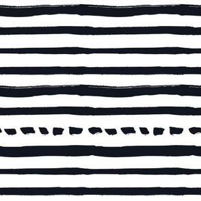 Black and White Doodles - Striped and Dotted