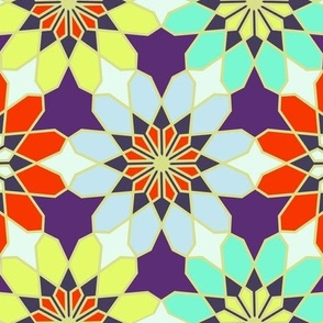 Islamic Geometric Pattern Fabric