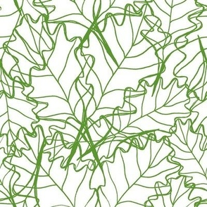 Scattered Leaves - Green