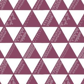 Triangles Berry Decorative