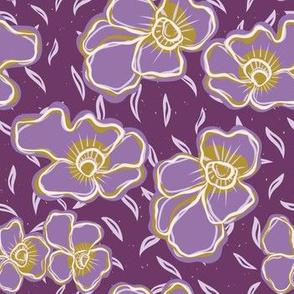 Pretty bold flower pansy blooms pattern