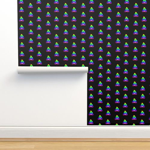 8594752 rainbow poo emoji fabric poo emoji fabric poo rainbow poo funny cute poo black by charlottewinter