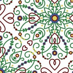"Scandinavian Folk Doodle (large 12"")"