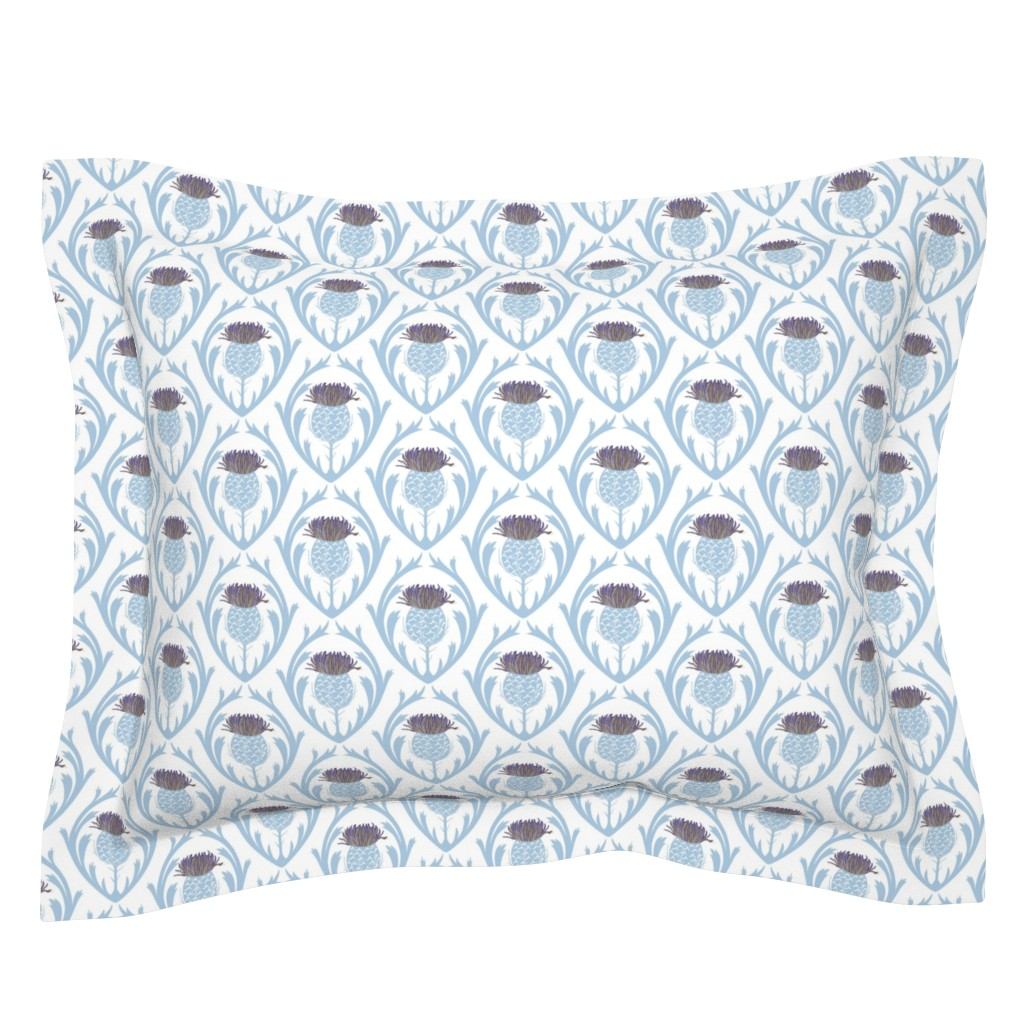 Sebright Pillow Sham featuring thistle1_14X10 by wenlei