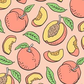 Peaches Peach Fruits on Peach