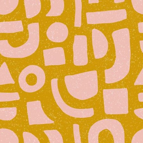 Blush Shapes Mustard