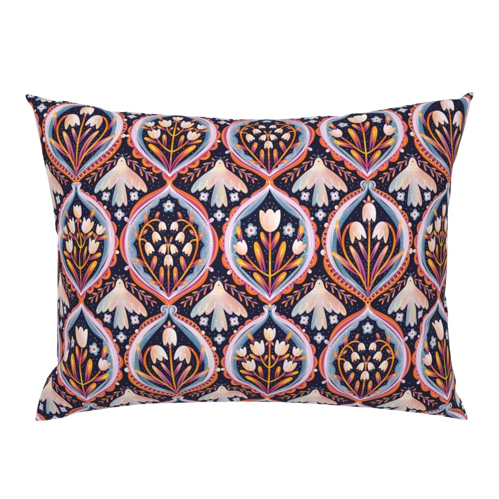 Campine Pillow Sham featuring Modern floral ornament pattern by stolenpencil