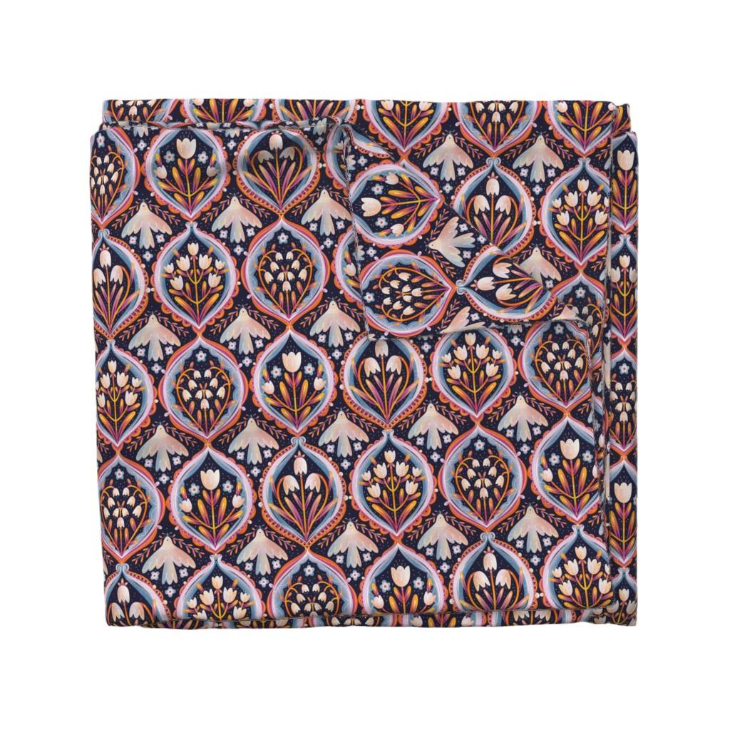 Wyandotte Duvet Cover featuring Modern floral ornament pattern by stolenpencil