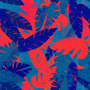 Leaves in Blue and Red