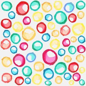 Watercolor bubbles fun