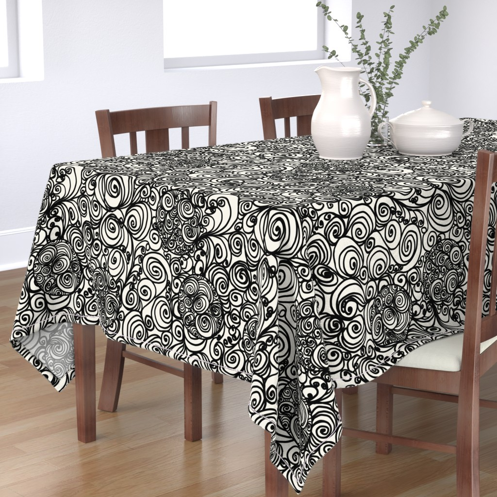 Bantam Rectangular Tablecloth featuring Turn it up to the Max by Su_G_©SuSchaefer by su_g
