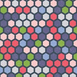 Shebby  hexagons