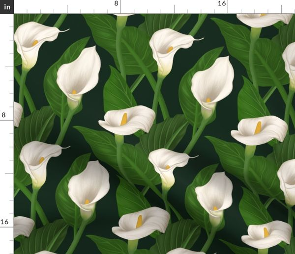 Large Scale Calla Lily Flowers Spoonflower