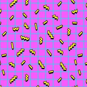 80s sprinkles pink