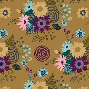 Mossy Gold Floral