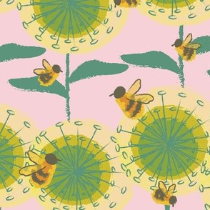 Nollers Lake Bees Pink-01