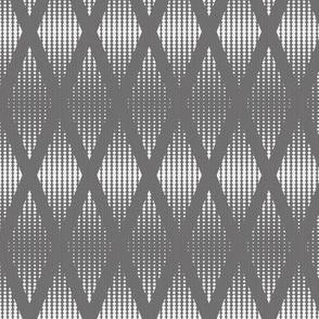 Halftone,  geometric dots in diamant shape