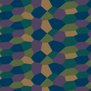 Sohm Lozenge Pattern Quarter Scale Dark