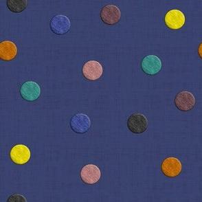 Hygge Coordinate Polka Dots (Indigo)