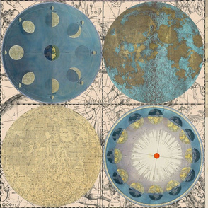 Map Wraps™ Celestial Globes Fat Quarter