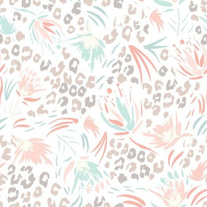 Animal attraction floral splash pastel