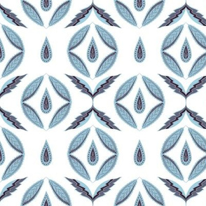 Botanical abstract. Scandinavian blue