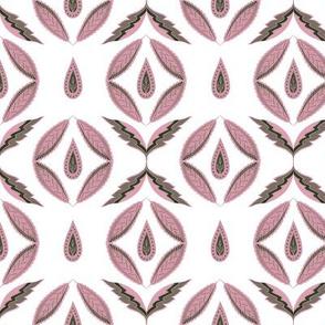 Botanical abstract. Scandinavian pink