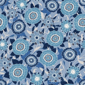 Victoria Floral deep blue