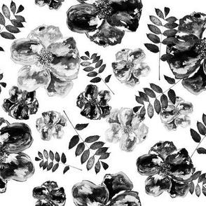 Poppies - Black & White
