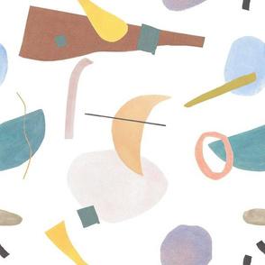 60s Mod Abstract Pastel Multi Pattern