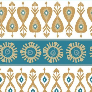 Scandi stripe in blue and gold