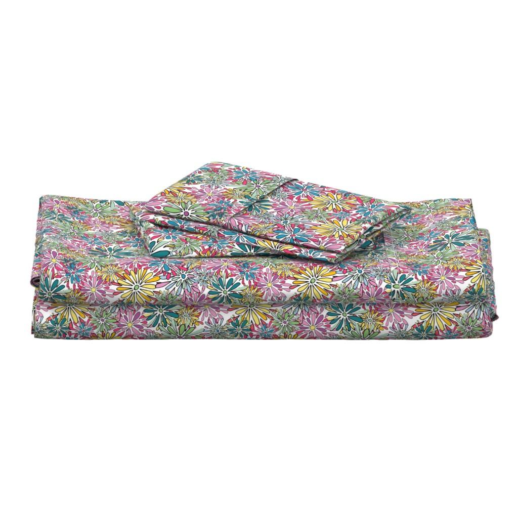 Langshan Full Bed Set featuring 20190304_101_SpringFlowerPower-01 by mlcwade