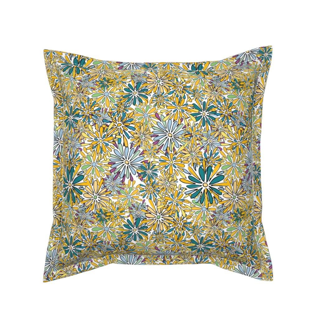 Serama Throw Pillow featuring 20190304_101_SpringFlowerPower-03 by mlcwade