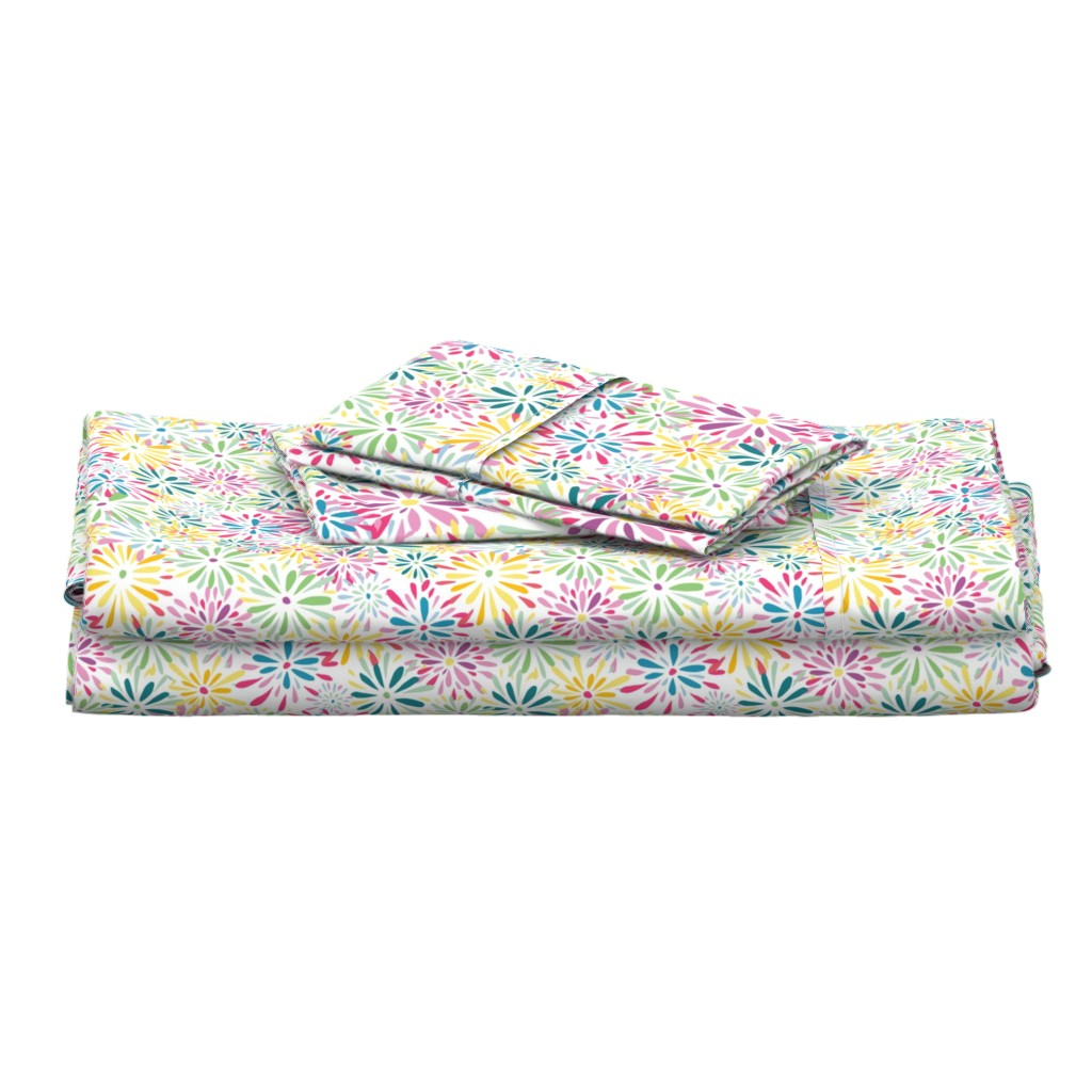 Langshan Full Bed Set featuring 20190304_101a_SpringFlowerPower-SP-01 by mlcwade