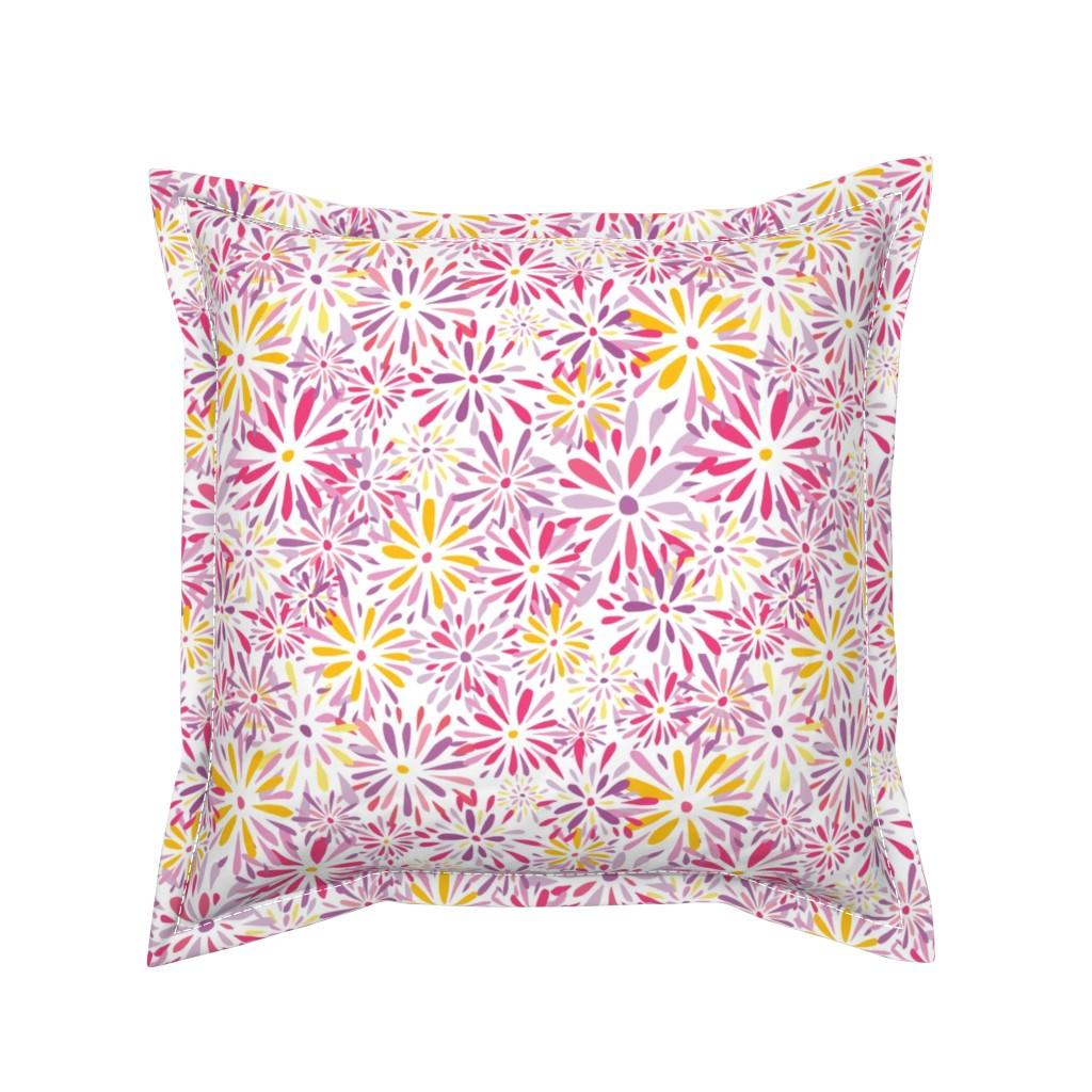 Serama Throw Pillow featuring 20190304_101a_SpringFlowerPower-04 by mlcwade