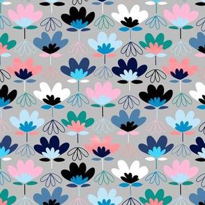 Fun Fan Flowers -  Cool Colors - Small