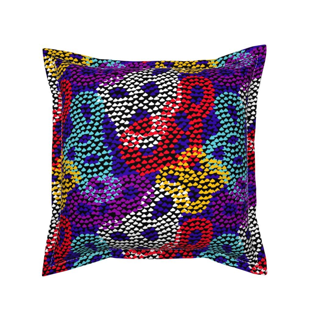 Serama Throw Pillow featuring 8 dots by ancira_agni