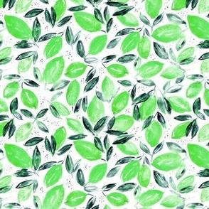 Green lemons • watercolor