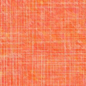 19-04U Orange Coral Red Blender Linen