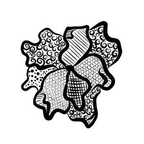 BW Doodle Flower