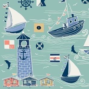Minty nautical sailing days