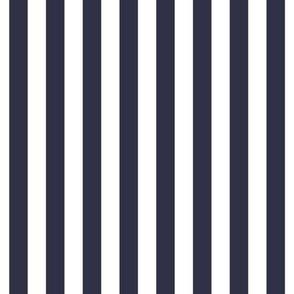 "stripes 1/2"" midnight blue vertical"