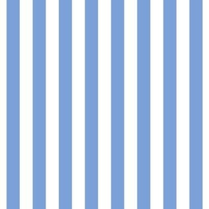 "stripes 1/2"" cornflower blue vertical"