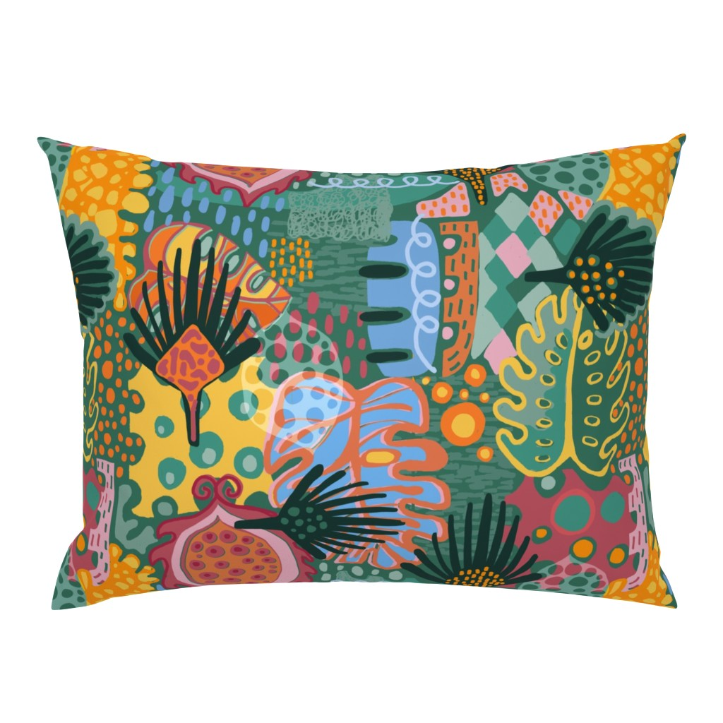 Campine Pillow Sham featuring Leaf It All In. by slumbermonkey
