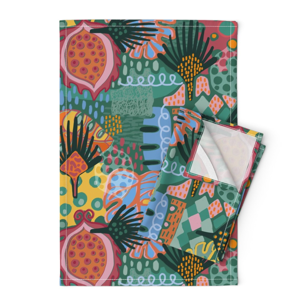 Orpington Tea Towels featuring Leaf It All In. by slumbermonkey