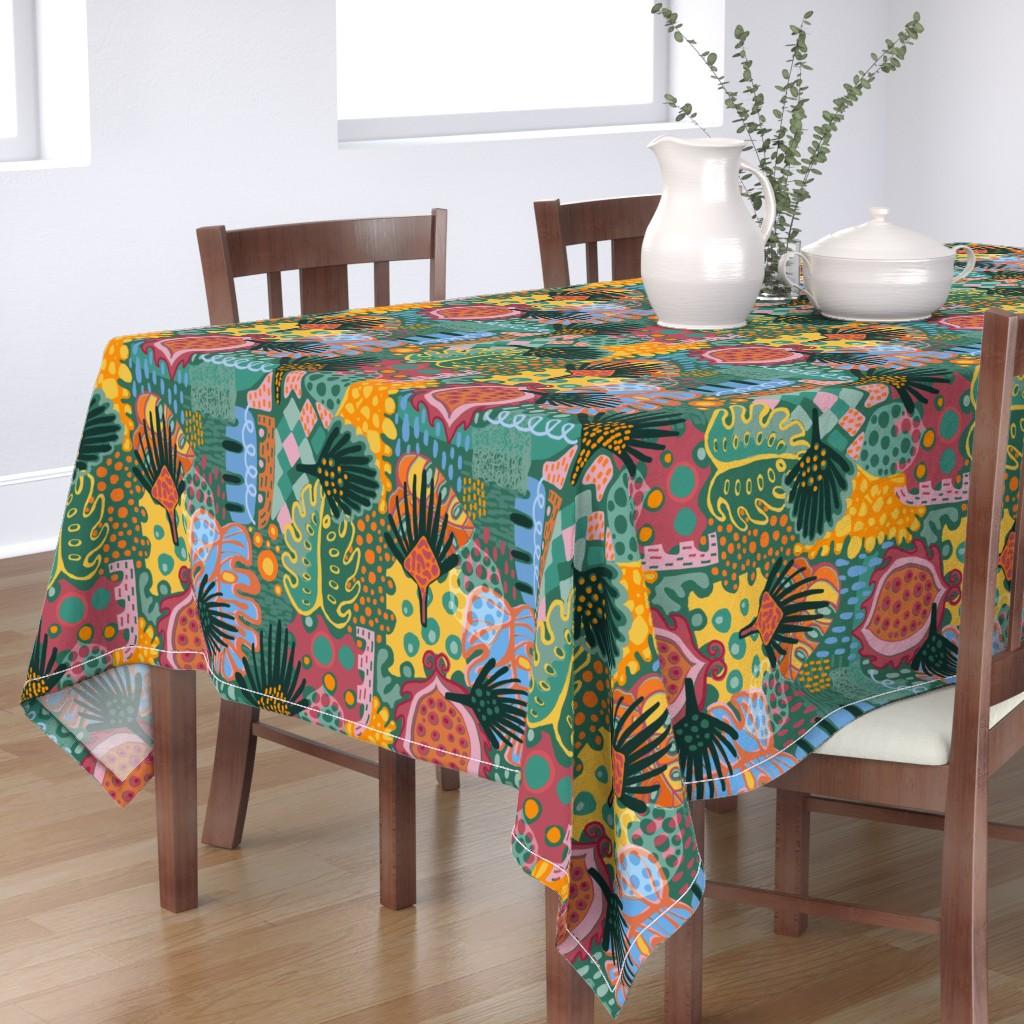 Bantam Rectangular Tablecloth featuring Leaf It All In. by slumbermonkey