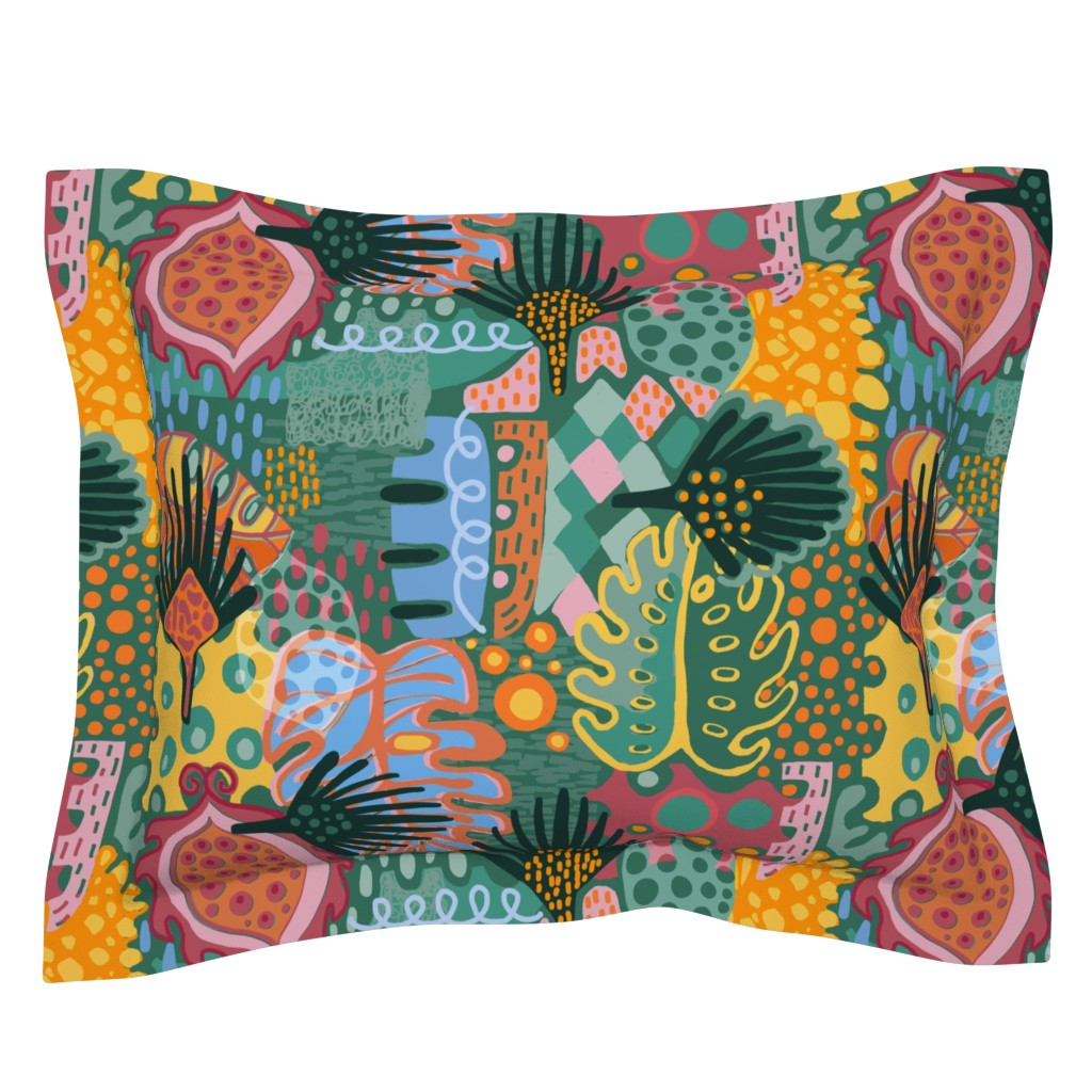Sebright Pillow Sham featuring Leaf It All In. by slumbermonkey